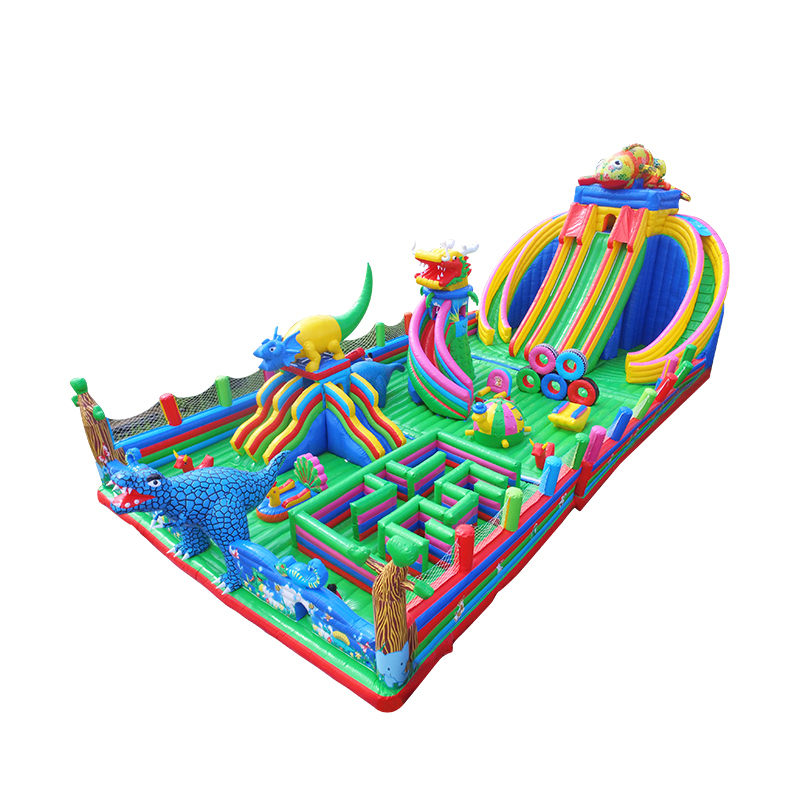 inflatable bouncy castle with multiple climbing toys mini and giant dry slides