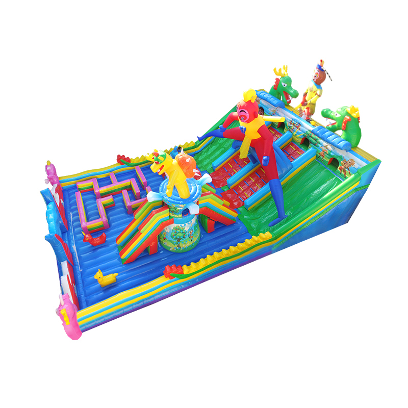 inflatable jumping bouncy castle with combo clearance climbing big and mini slides