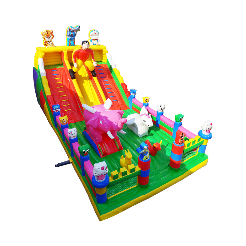colorful giant inflatable bouncy slide outdoor children customized inflatable slide