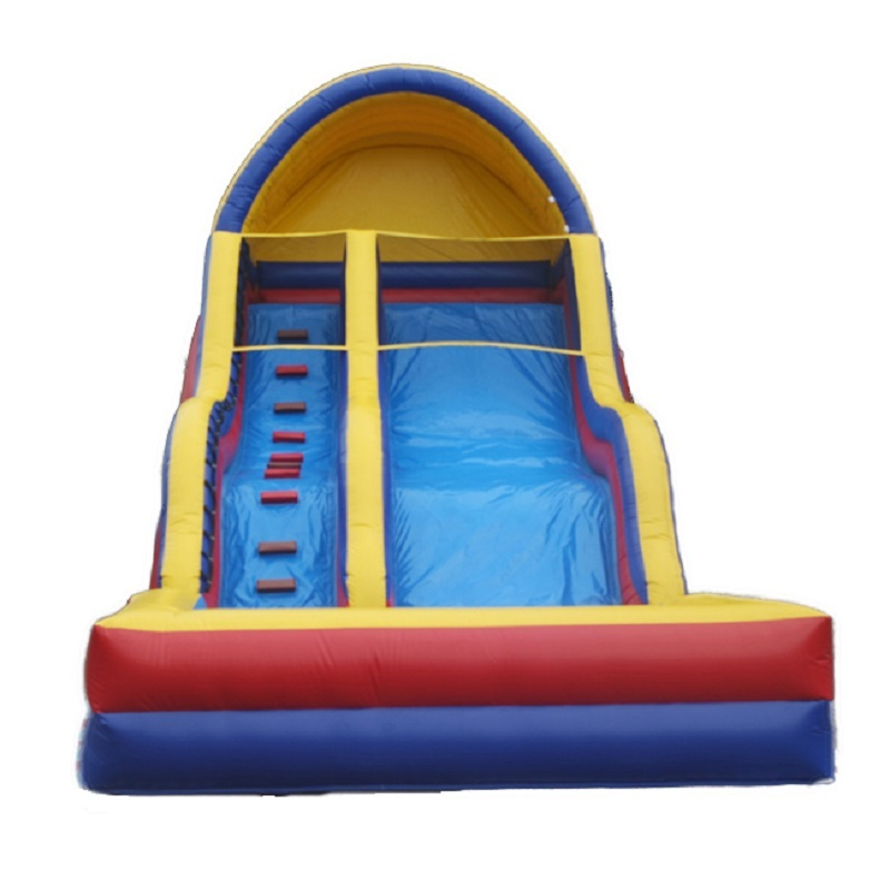 Commercial inflatable water slide with pool  adult children double water slide for sale