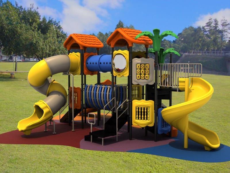 Popular Kids Plastic Outdoor Playground Equipment Slide And Swing Set