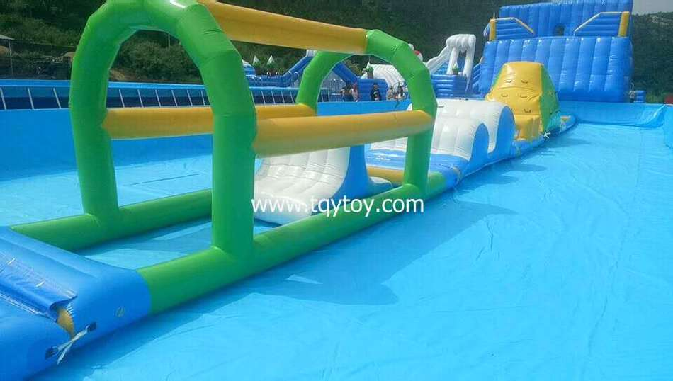 inflatable water park water slide show