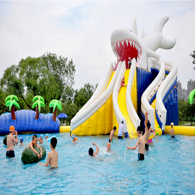 Hot Selling PVC Customized Inflatable Pool Water Slide for Kids Fun