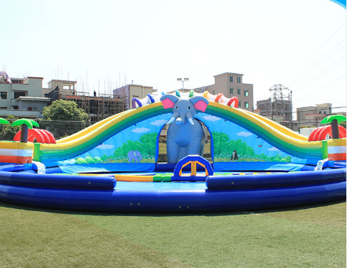 2020 Commercial Kids Jumping jungle slide Inflatable Water Slide For sale