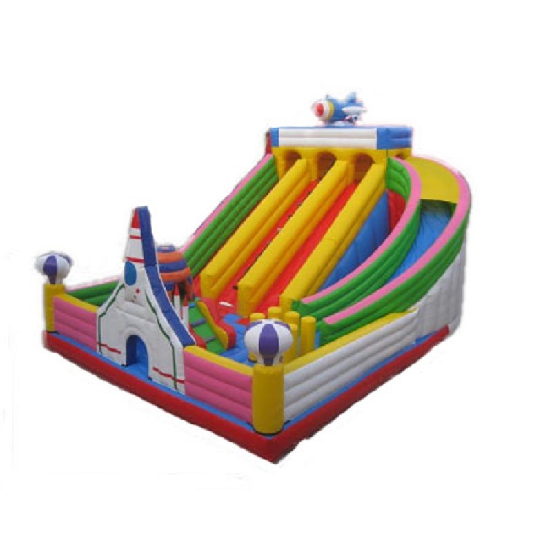 Kids Space Astronauts theme inflatable jumping slide bouncer wholesale inflatables toy castle slide