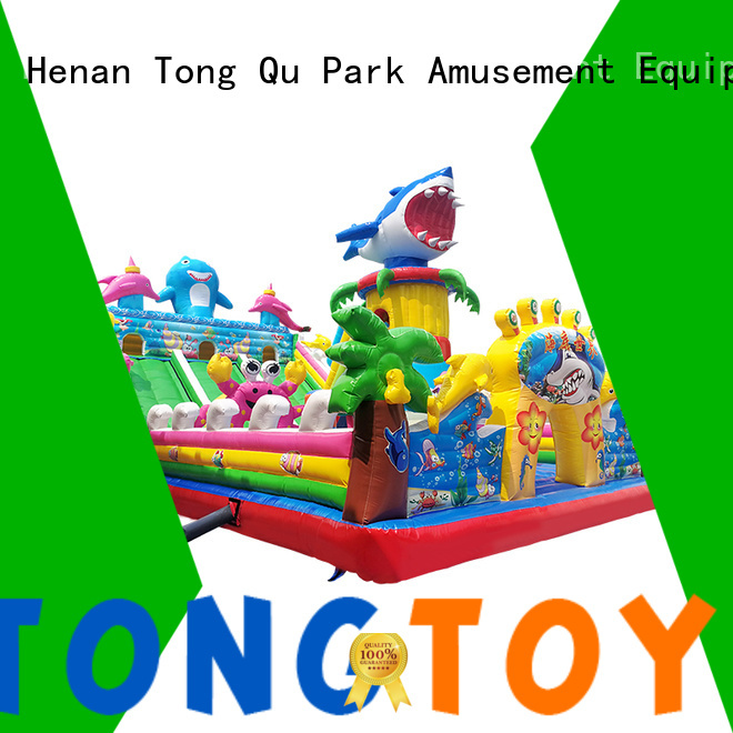 Tongtoy fire-resistant mini bounce house inquire now for outdoor