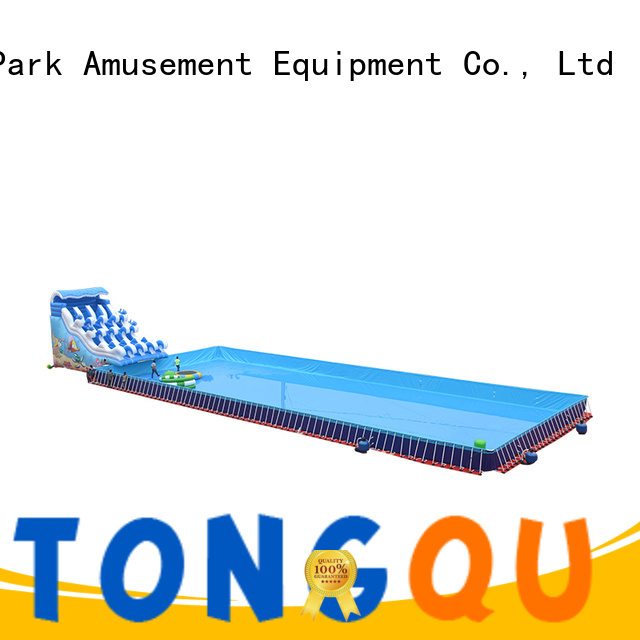 Tongtoy water-proof inflatable water slide factory price for swimming pool