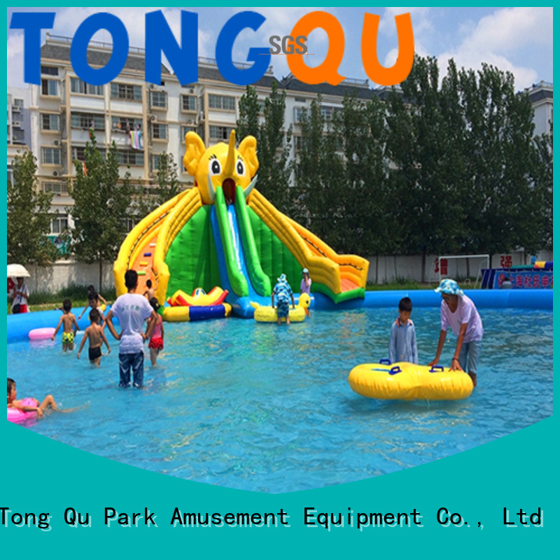 Tongtoy water slide bounce house order now for swimming pool