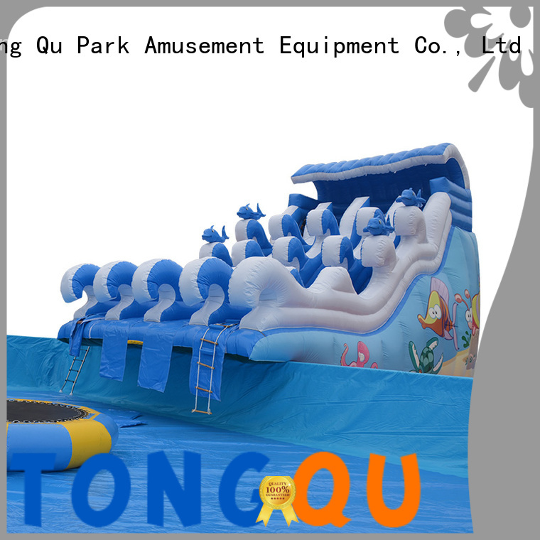 Custom portable inflatable water slides for business for water park