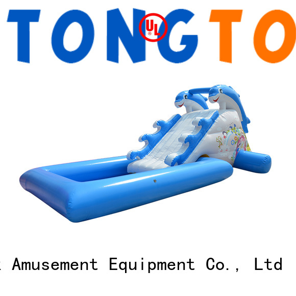 customized inflatable water slide order now for swimming pool