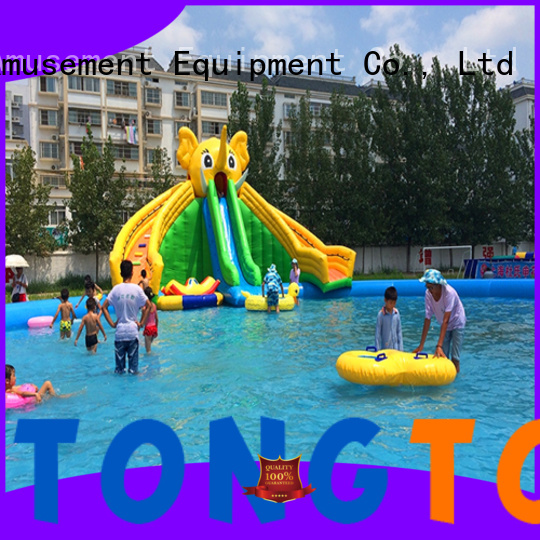 Tongtoy New outdoor bouncer order now for swimming pool