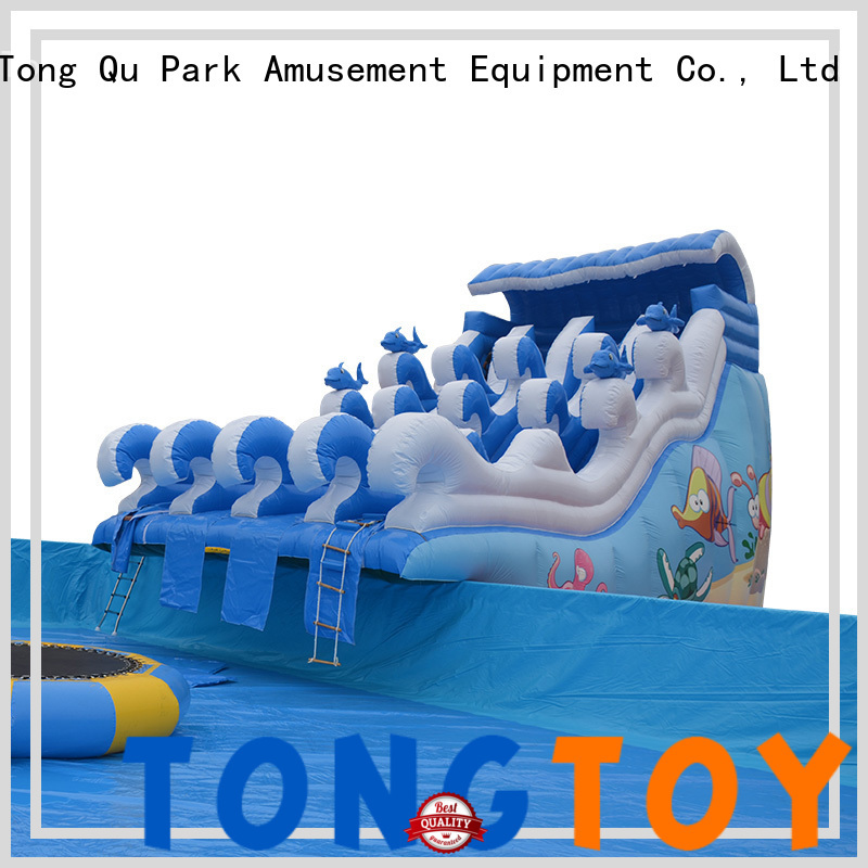 Tongtoy outdoor blow up water slides factory for water park