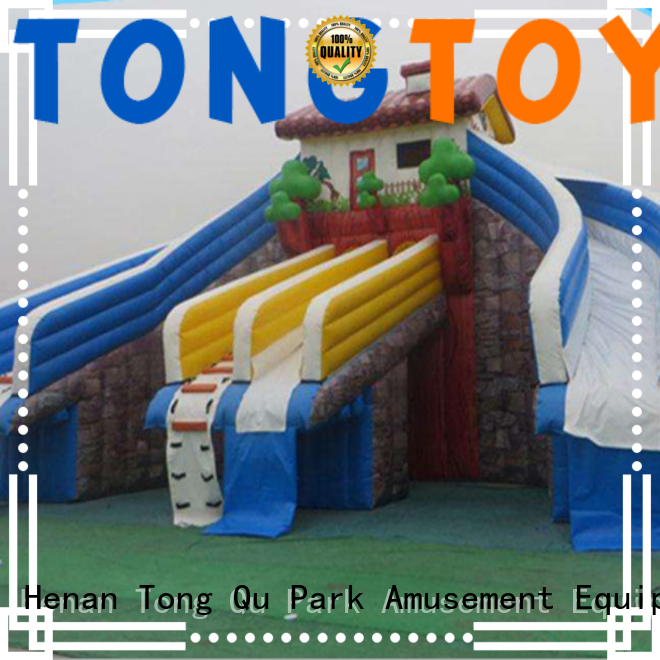 Tongtoy water slide bounce house factory price