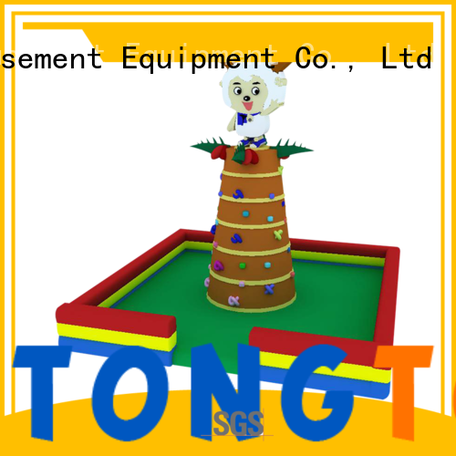 Tongtoy good selling inflatable climbing wall and slide reputable manufacturer for big events