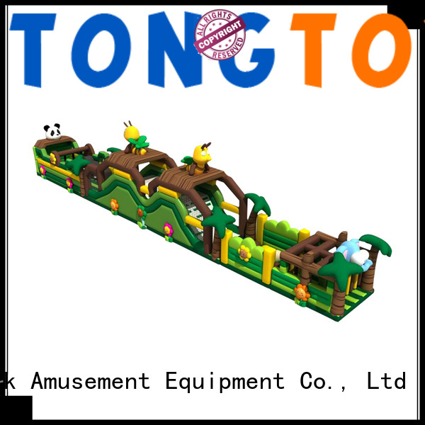 Tongtoy premium quality obstacle course bounce house inquire now for kids