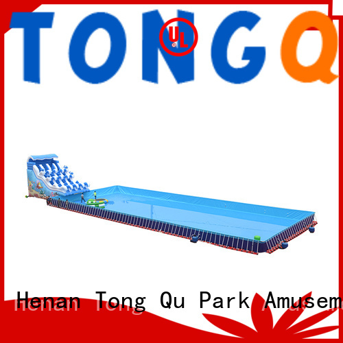 fire-resistant inflatable water slide factory price for water park