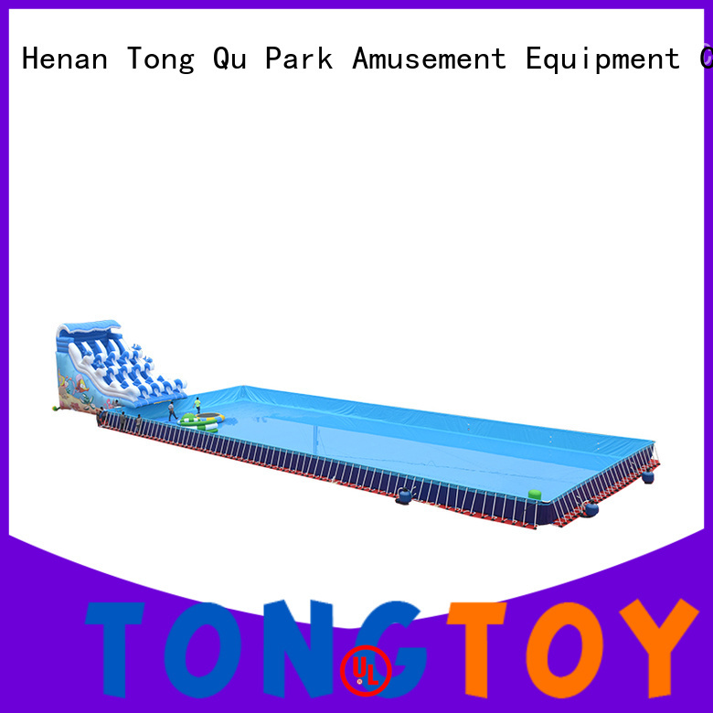 Tongtoy water-proof inflatable water slide reputable manufacturer