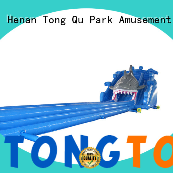 Tongtoy fire-resistant inflatable water slide order now
