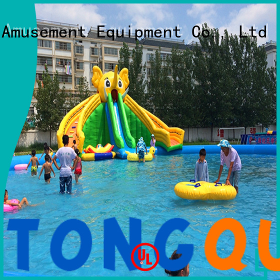 fire-resistant inflatable water slide factory price for swimming pool